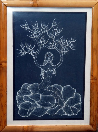 Woman Embodying the Mahua Tree